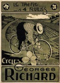 Vintage French bicycle advertisment poster - Georges Richard